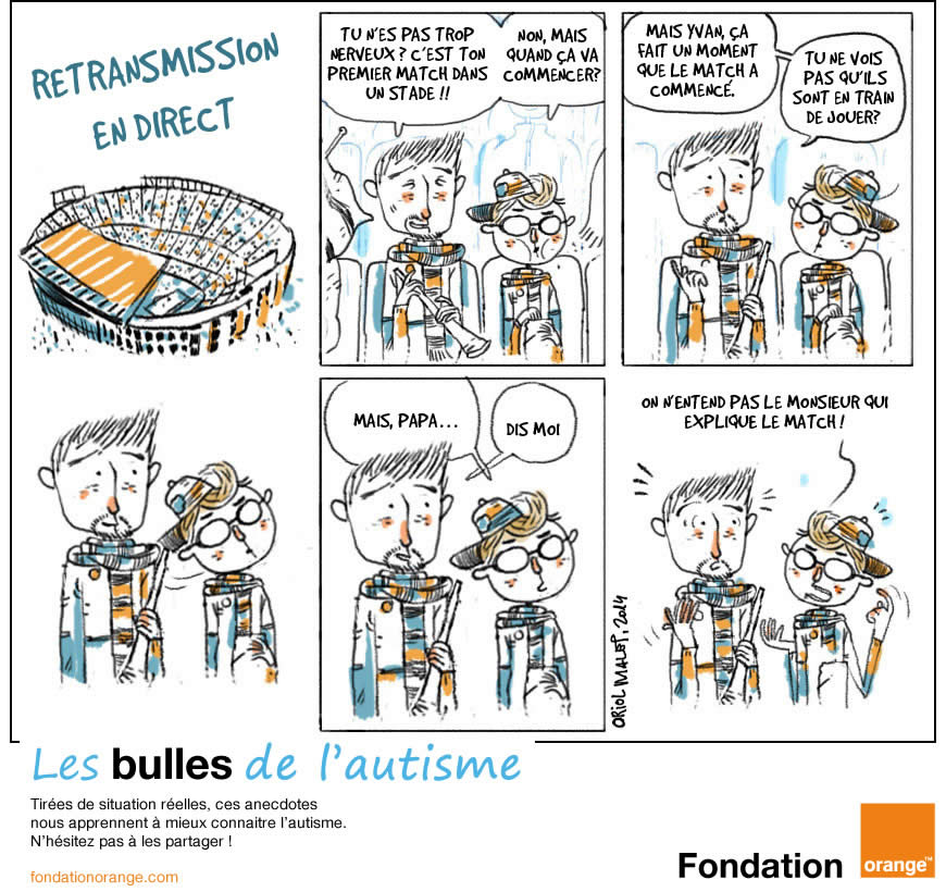 retransmission en direct bande dessinée autisme