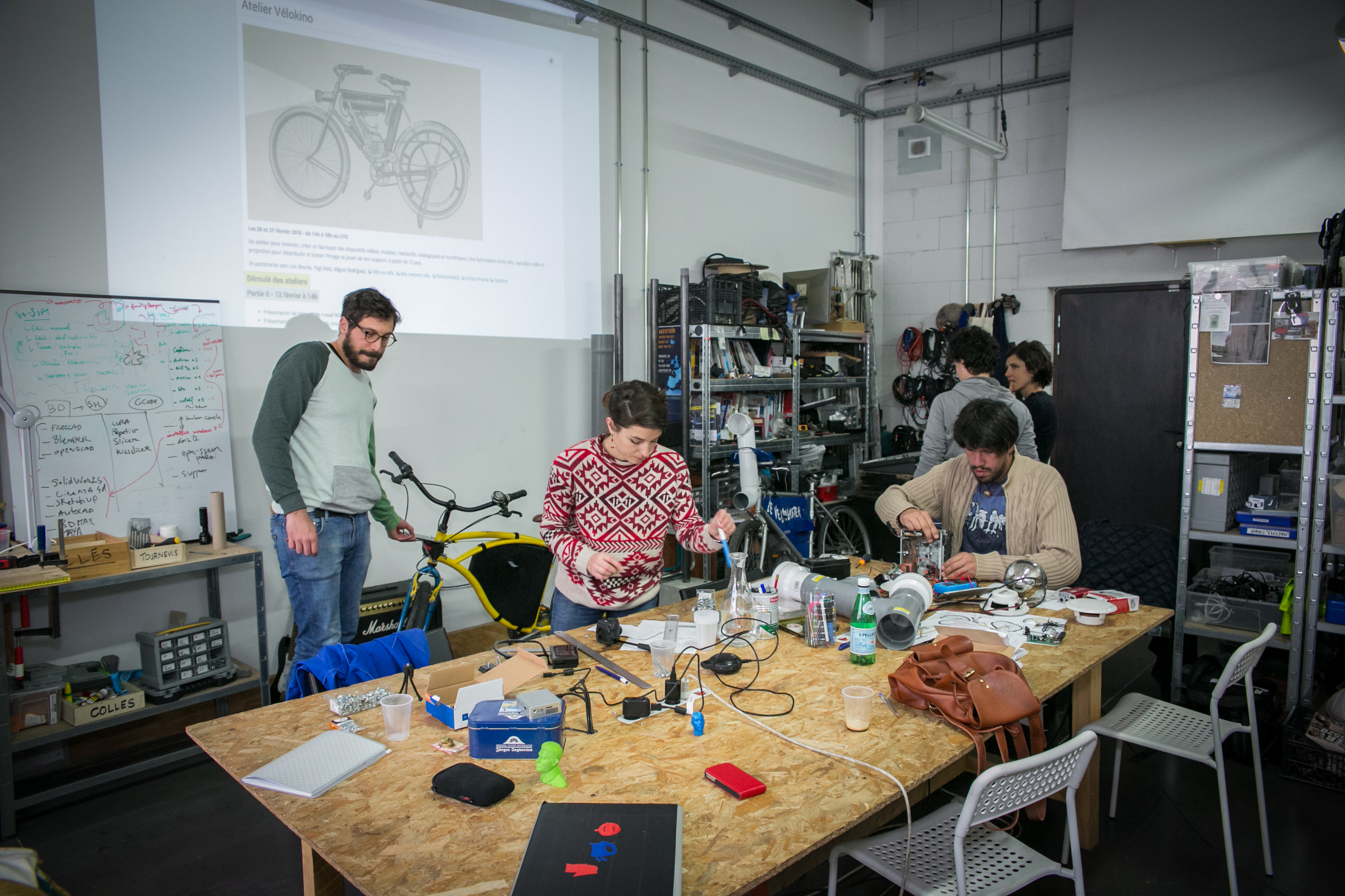 construction vélo fablab