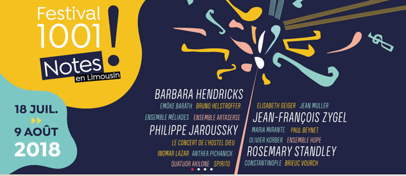 Le Festival 1001 Notes en Limousin