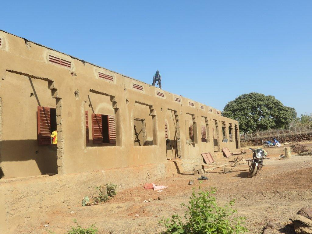 Construction of the new school is ongoing