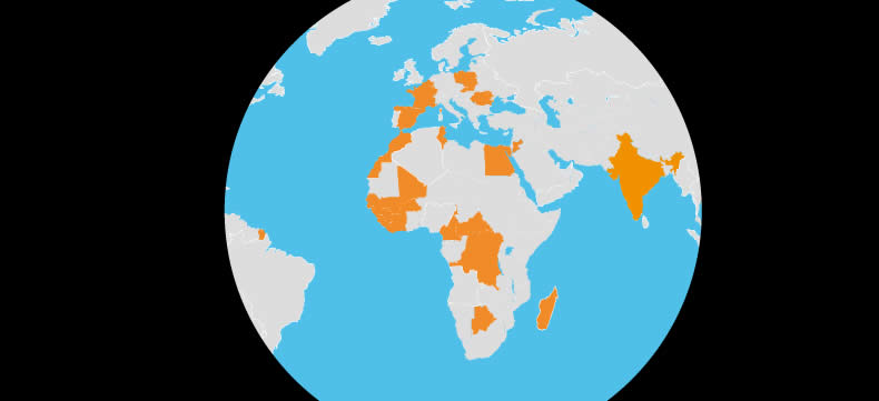 The Orange Foundation around the world