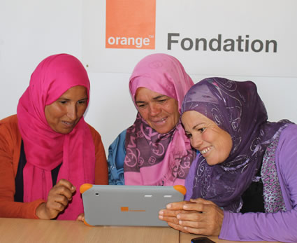 training room work digital centre tunisia foundation orange