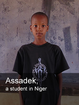 Assadek, a student in Niger