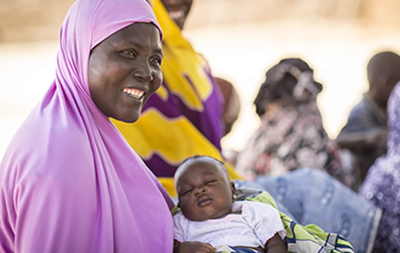 Biba and her baby in Ouallam, Niger