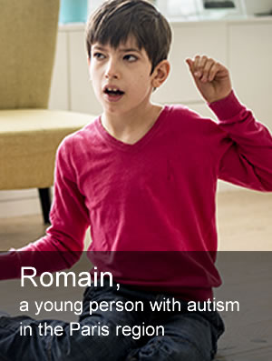 Romain, a young person with autism in the Paris region
