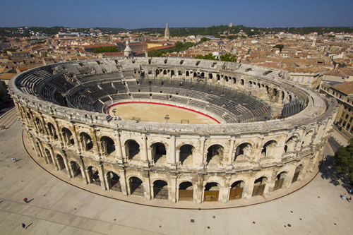The Colosseum in Nimes